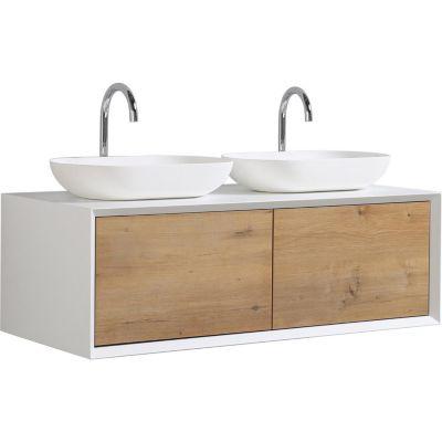 Mueble baño doble fiona blanco 120 cm