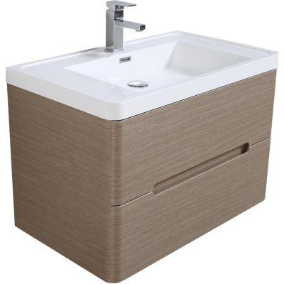 Mueble baño river taupe 80 cm