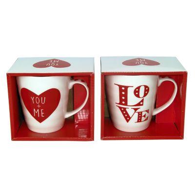 Tarro porcelana love caja regalo 350 ml