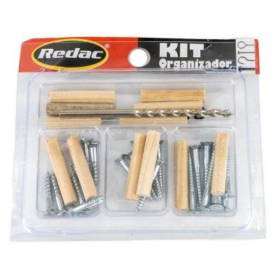 Kit tornillo para madera y taquetes con broca 35pz marca REDAC