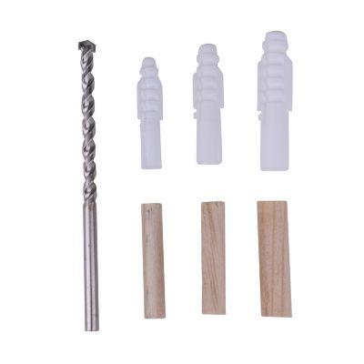 Kit taquetes plastico y madera con broca 77pz  marca REDAC