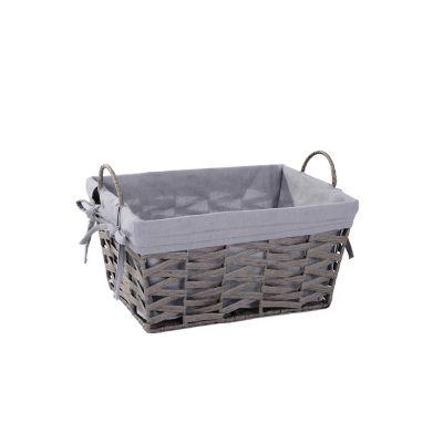 Canasto rectangular gris