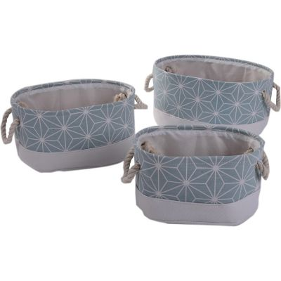Set de tres cajas tela estrella