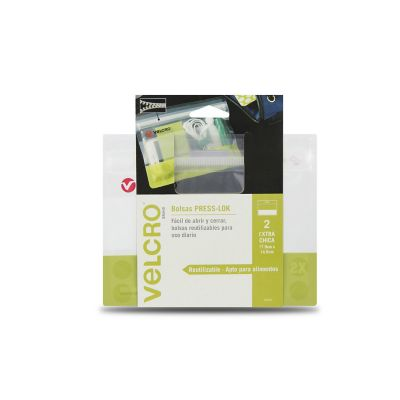 Velcro bolsas press-lok® x-chica, 17.9 x 14.5cm, 2 bolsas, verde