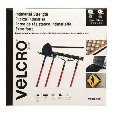 Velcro sujetadores con adhesivo de alta resistencia, cinta, 15m x 25mm, negro