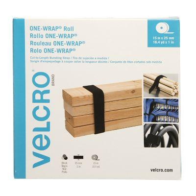 Velcro correa-rollo one-wrap® , 15m x 2.5 cm, 1 rollo, negro