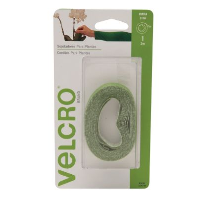 Velcro sujetadores para plantas, cinta 3m x 1.2 cm, color verde, no daña las plantas, reutilizable