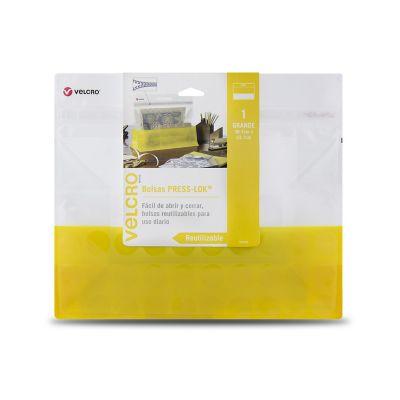 Velcro bolsas press-lok® grande, 38.7 x 33.1cm, 2 bolsas, amarilla