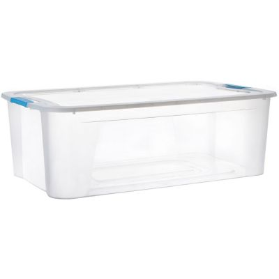 Caja bajo cama 30 lts traslucida