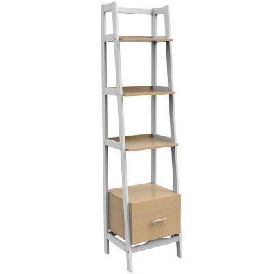 Librero con 1 cajon y 3 repisas blanco