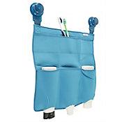 Organizador para ducha con ventosa azul
