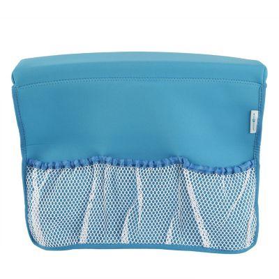 Organizador para ducha con malla azul