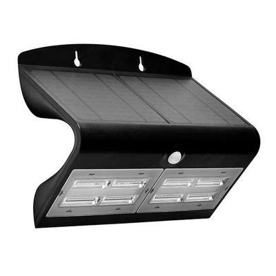 Panel solar led de 6.8w negro