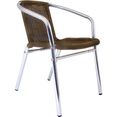 Silla Aluminio/Ratan Pe Café