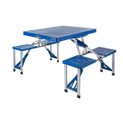 Mesa plegable con bancos 134 x 10 x 66 cm