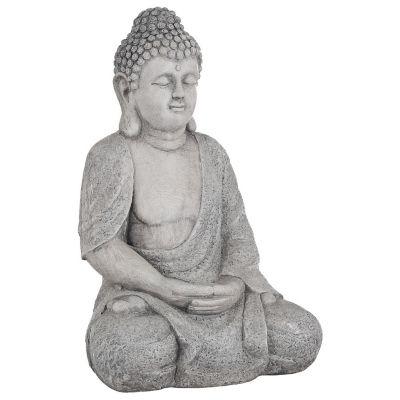 Buda sentado de poliresina 28x38,5x59 cm