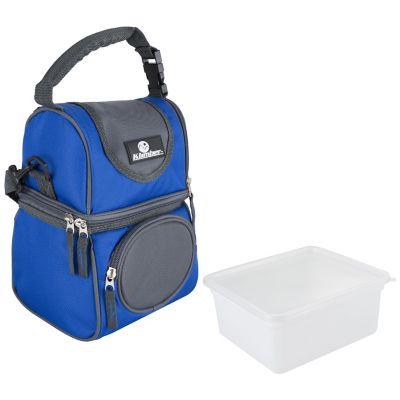 Nevera soft azul con recipiente plástico