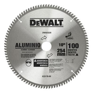 Disco Sierra 10 pulgX100 Dientes, Flecha 30 mmAccesorio para el corte de Aluminio de rendimiento profesional.