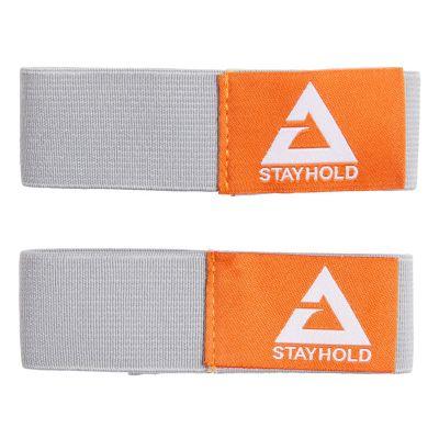 Velcro stayhold quick straps, 2 piezas color gris, correa elástica con sistema de sujeción a base de gancho y felpa