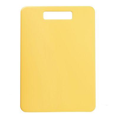 Tabla para picar uso reversible, color amarilla ideal para carnes blancas