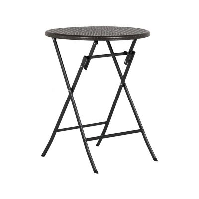 Mesa plegable tipo ratan ch 60 cm