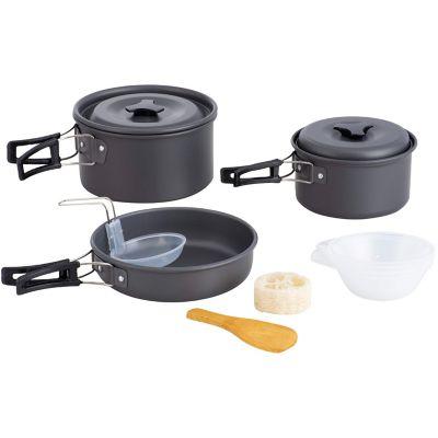 Set ollas y utensilios 3 piezas