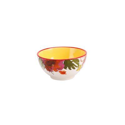 Bowl cerámica flores 14cm