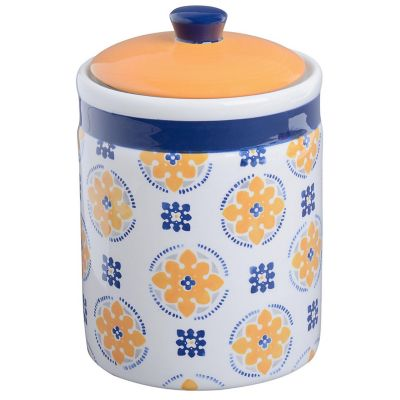 Frasco cerámica chico flores 11cm