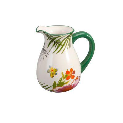 Jarra cerámica flores
