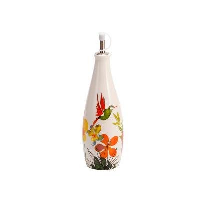 Aceitero cerámica flores