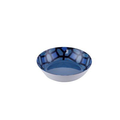 Bowl mediano melamina 20cm geométrico azul Blue Ocean