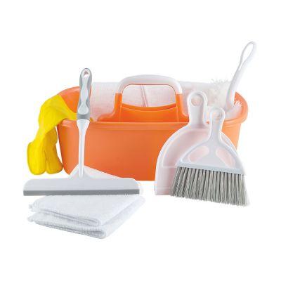 Set de 10 pzs articulos de limpieza naranja