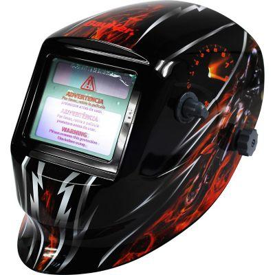 Máscara de soldar con diseño