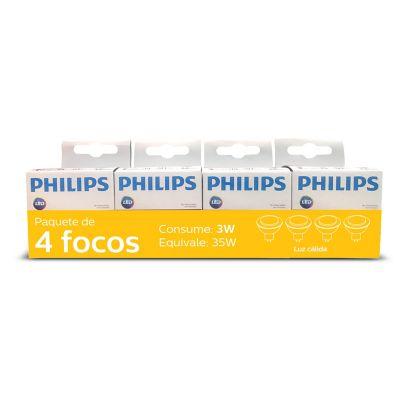 Paquete de 4 Focos Led mr16 3w/35w LC