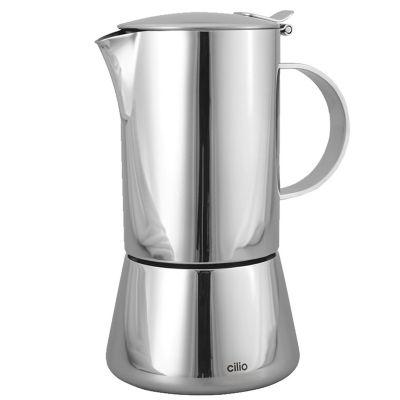 Cafetera Espresso Acero Inox. 4 Tz