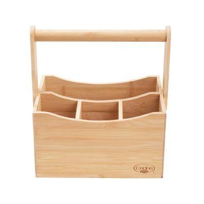 Porta cubiertos de bambú