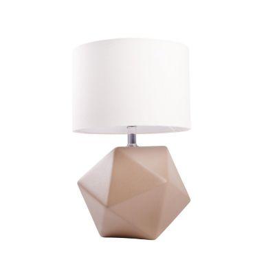 Lampara de mesa poliedro gamuza