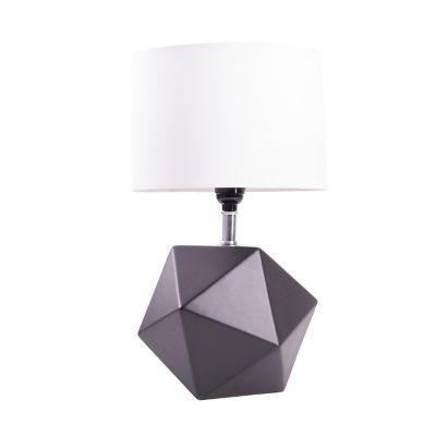 Lampara de mesa poliedro negro