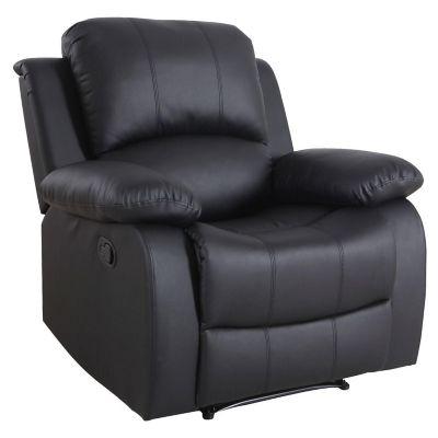 Sillon reclinable pu negro