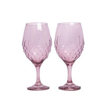 Juego 2 copas Gaudi rosa