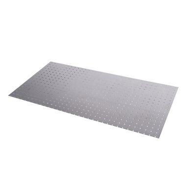 Lámina perforada con circulos de 1.5mm x 4.5mm, 25x50cm, Aluminio natural