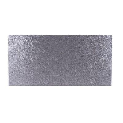 Lámina rugosa 0.8mm, 25x50cm, Aluminio natural