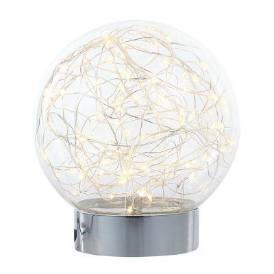 Lampara mesa esfera vidirio 1 luz