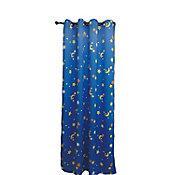 Cortina Infantil Black Out Forro Plateado Azul con lunas 135x220 cm