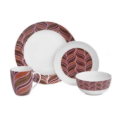 Vajilla porcelana Marsala 16 piezas (4 personas)
