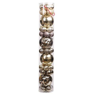 Set surtido 44 esferas dorado