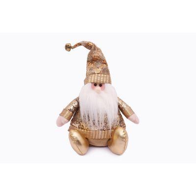 Santa sentado 28cm dorado