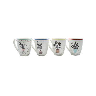 Tarro porcelana 400ml cactus