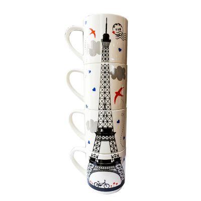 Set 4 tarros Eiffel Tower