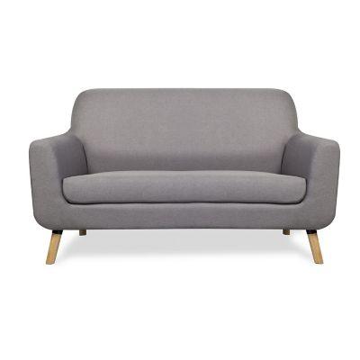 Sofa 2 plazas gris claro